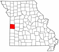 Map of Missouri highlighting Bates County.png