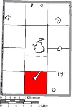 Location of Somers Township in Preble County