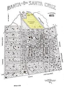 Mapa de Santa Cruz do Sul de 7 de setembro de 1922. Em destaque a área  conhecida à época como Logradouro Público, onde hoje se localiza o Parque  da ... 5d209f7643