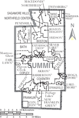 File Map Of Summit County Ohio With Municipal And Township Labels