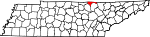 State map highlighting Pickett County