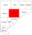 Map of Warren County Indiana highlighting Liberty Township.png