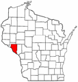 Map of Wisconsin highlighting Buffalo County.png