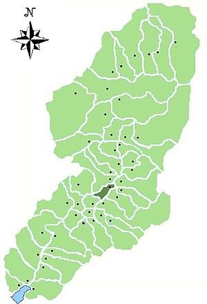 Losine - Location of Losine in Val Camonica