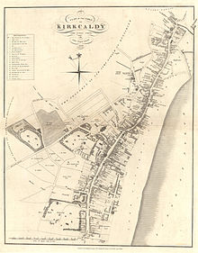 Historic map of the Royal Burgh of Kirkcaldy from 1824