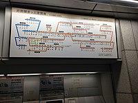 Map on ticket machine corner of Nagoya Station.JPG