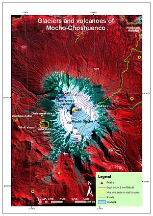 Mocho-Choshuenco - Map of Mocho-Choshuenco made from an ASTER VNIR image