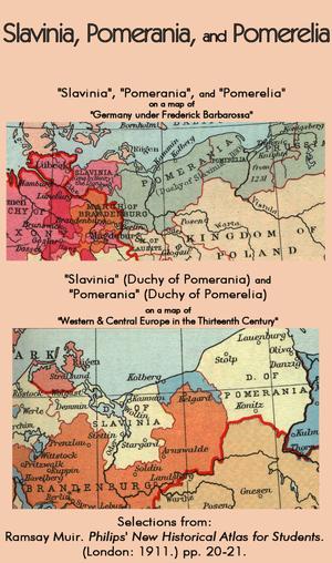Slavinia - Slavinia, Pomerania, and Pomerelia in the 12th and 13th centuries