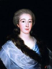 Portrait of Doña María Teresa de Vallabriga y Rozas (1759-1820)