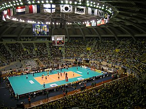 Ginásio do Maracanãzinho - Inside the Maracanãzinho during a volleyball game at the 2010 World League.