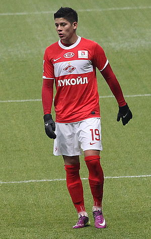 Marcos Rojo - Rojo playing for Spartak Moscow in March 2011.