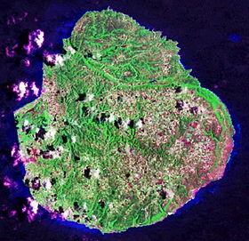 Image satellite de Marie-Galante.