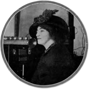 AM broadcasting - One of the earliest radio broadcasts, French soprano Mariette Mazarin singing into Lee de Forest's arc transmitter in New York City on February 24, 1910.
