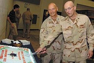 David M. Thomas Jr. - Mark Buzby hands over Joint Task Force Guantanamo to David M. Thomas.
