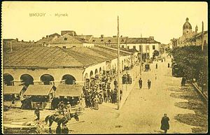 History of the Jews in Brody - Market square of Brody (Rynek in Polish) in 1904