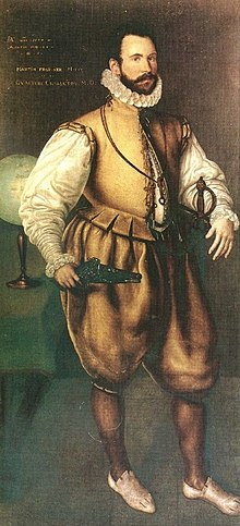 Martin Frobisher peint par Cornelis Ketel.