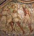 Martirio di santo Stefano (M. della Dormitio di Terni, dettaglio, affresco del XIV-XV secolo, Terni, Chiesa di S. Pietro).jpg