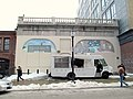 Massachusetts Avenue surface station with Clover food truck, March 2017.JPG