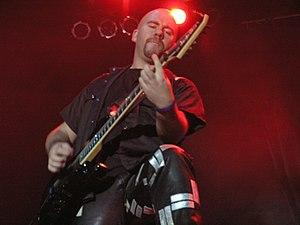 Stefan Elmgren - Stefan Elmgren during Hammerfall concert on Masters of Rock 2007 festival.