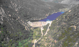 Matilija Creek - Matilija Reservoir and Dam