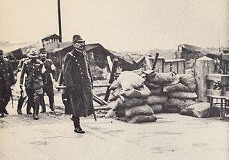 Iwane Matsui - Matsui inspecting the front lines in Shanghai in September 1937