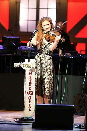 Megan Mullins - Mullins performing at the Grand Ole Opry in 2007