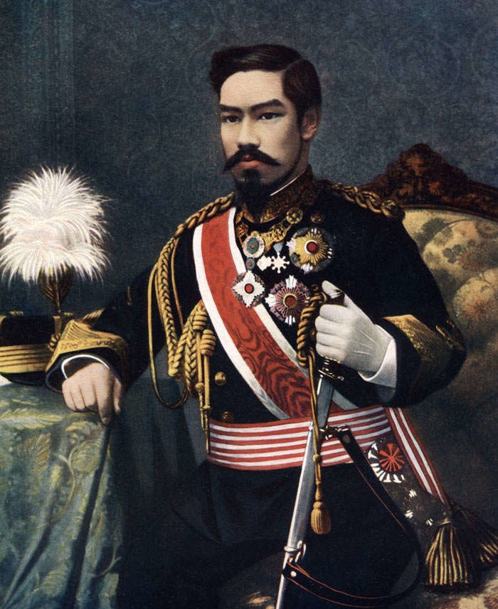 Meiji emperor color