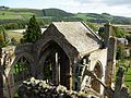 Melrose Abbey from roof 2009.jpg