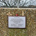 Memorial, former gun emplacement, Sinah Common Gun Site - geograph.org.uk - 310075.jpg