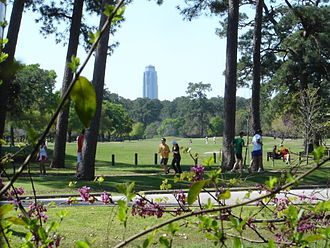 Memorial Park, Houston - Memorial Park golf course with Williams Tower in the background