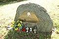 Memorial stone of Akvinela Ludmila Loskotová in Vřesník, Želiv, Pelhřimov District.jpg