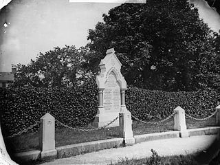 Memorial to the dead of the Abergele railway accident, 1868
