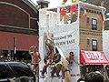 Men on float at Chicago Pride 2010.jpg
