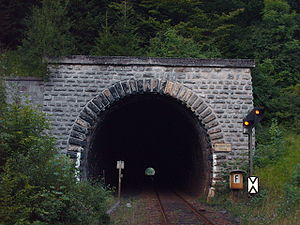 Upper Ruhr Valley Railway - Western portal of the Messinghausen Tunnel