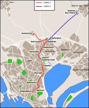 Metrocagliari mappa apr