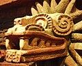 Mexico - Museo de antropologia - Tête de Quetzalcóatl.JPG