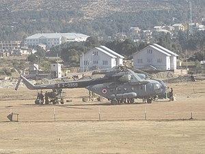 Kishtwar - Image: Mi 8 of Indian Air Force in Kishtwar, taking relief cargo to remote areas of J&K State
