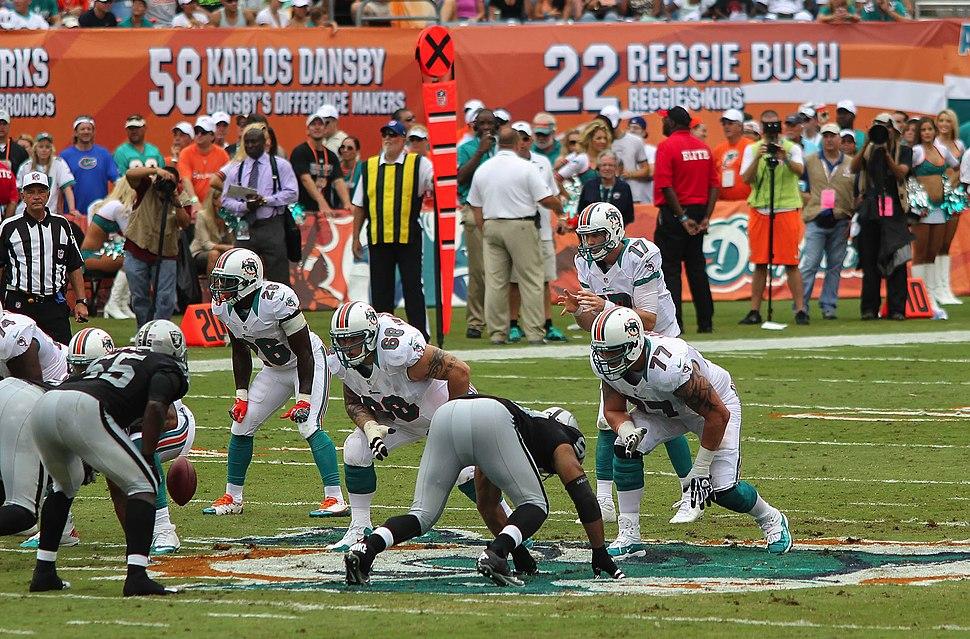 Miami Dolphins offensive line - Miami Dolphins vs Oakland Raiders 2012
