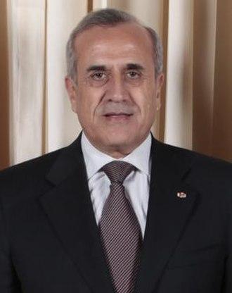 2008 Lebanese presidential election - Image: Michel Suleiman 2009