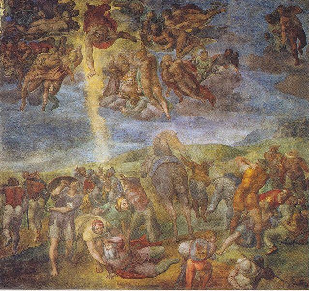 Archivo:Michelangelo - Bekehrung des heiligen Paulus.jpeg