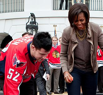 Mike Green (ice hockey, born 1985) - Green joins First Lady of the United States Michelle Obama at the White House in 2011 to promote her Let's Move! initiative