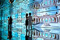 Michelle Obama and Agnese Landini tour the Mirror Room in the Italian Pavilion at the World Expo in Milan.jpg