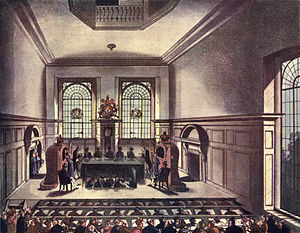 Worshipful Company of Coopers - A lottery drawing at Coopers' Hall