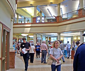 Mid-Continent Public Library - Midwest Genealogy Center, main floor atrium