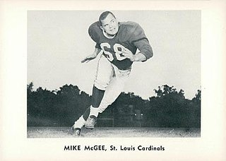 Mike McGee (American football) American football player and coach, college athletics administrator