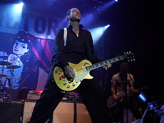 Mike Ness - Mike Ness during a Social Distortion concert in Tilburg in 2012