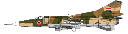 Mikoyan-Gurevich MIG-23MS Libyan Arab Republic Air Force Pre 1977 Camo Air to Air