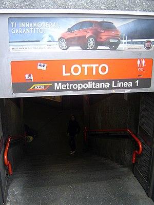 Lotto (Milan Metro) - Image: Milano MM Lotto