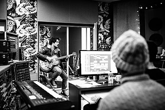 Milky Chance - Milky Chance recording the Blossom album in 2016.