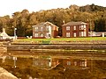 Millport, Marine Parade houses reflected - geograph.org.uk - 1540137.jpg